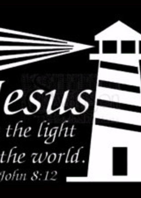 Window Decal Jesus Light World