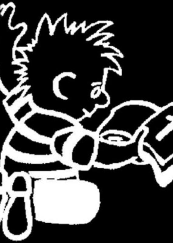 Window Decal Boy w/Bible