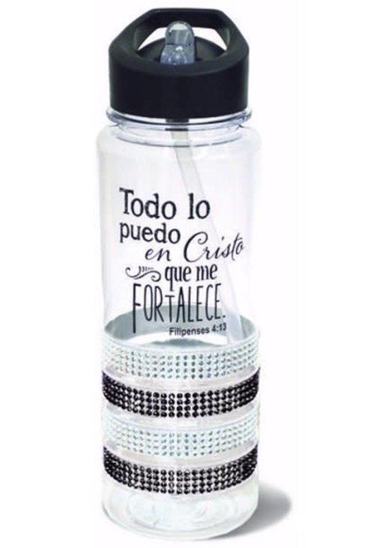 Divinity Boutique Water Bottle : Gem Black-Spanish