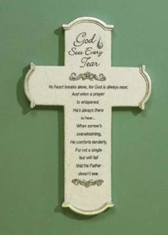 Wall Cross-God Sees Every Tear w/Gift Card & Gift Box