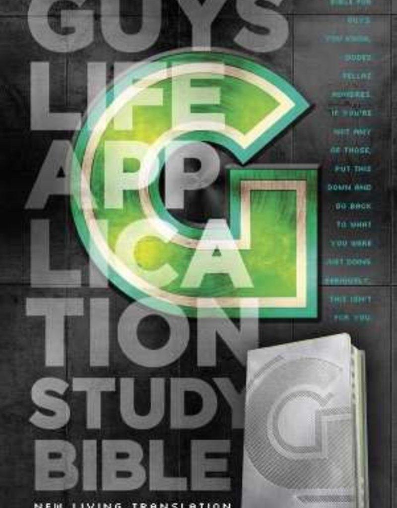 Tyndale NLT2 Guys Life Application Study Bible-Iridium LeatherLike