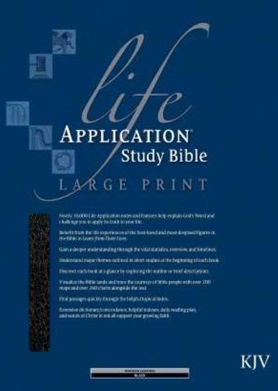 Tyndale KJV Life Application Study Bible Large Print Black Bonded