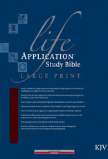 Tyndale KJV Life Application Study Bible Large Print-Burgundy Bonded Leather Indexed