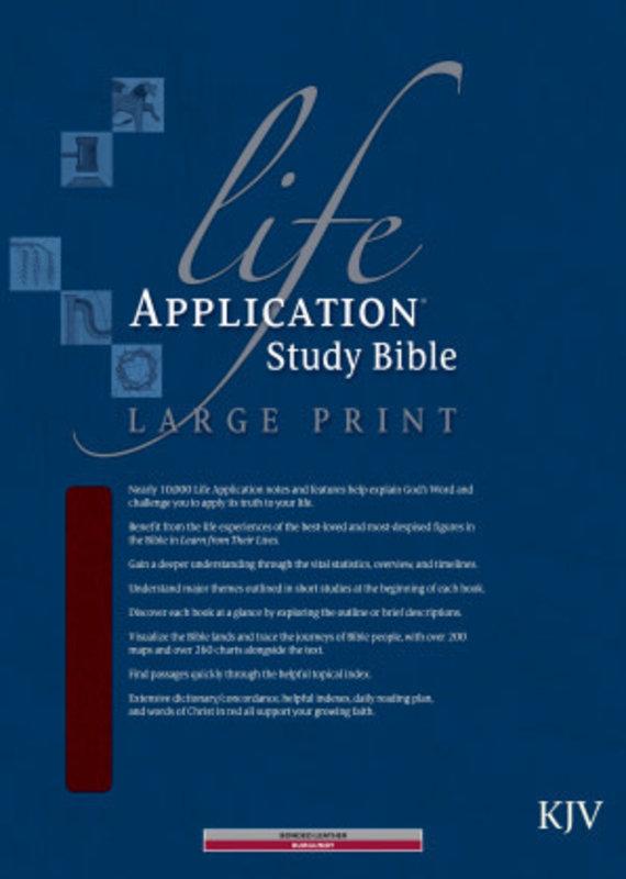 Tyndale KJV Life Application Study Bible Large Print-Burgundy Bonded Leather Indexed