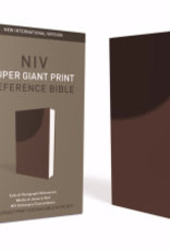 Zondervan NIV Super Giant Print Reference Bible-Chocolate Leathersoft