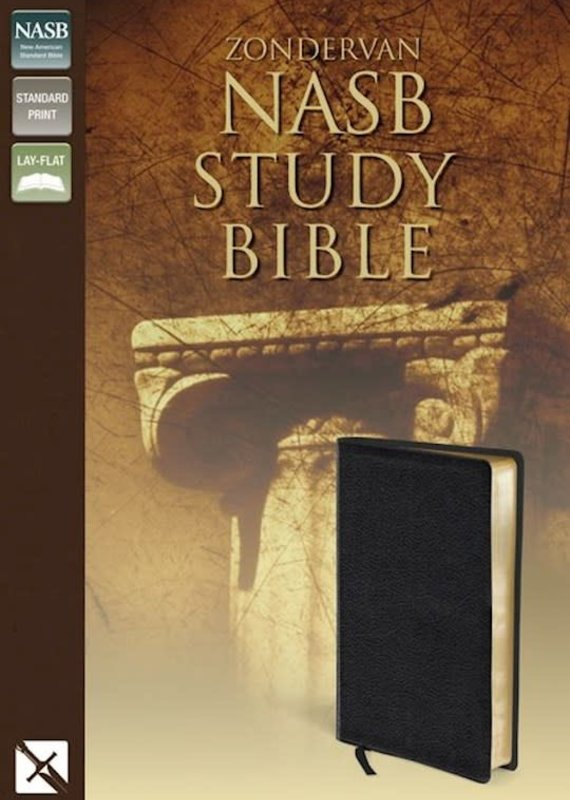Zondervan NASB Study Bible-Black Bonded Leather