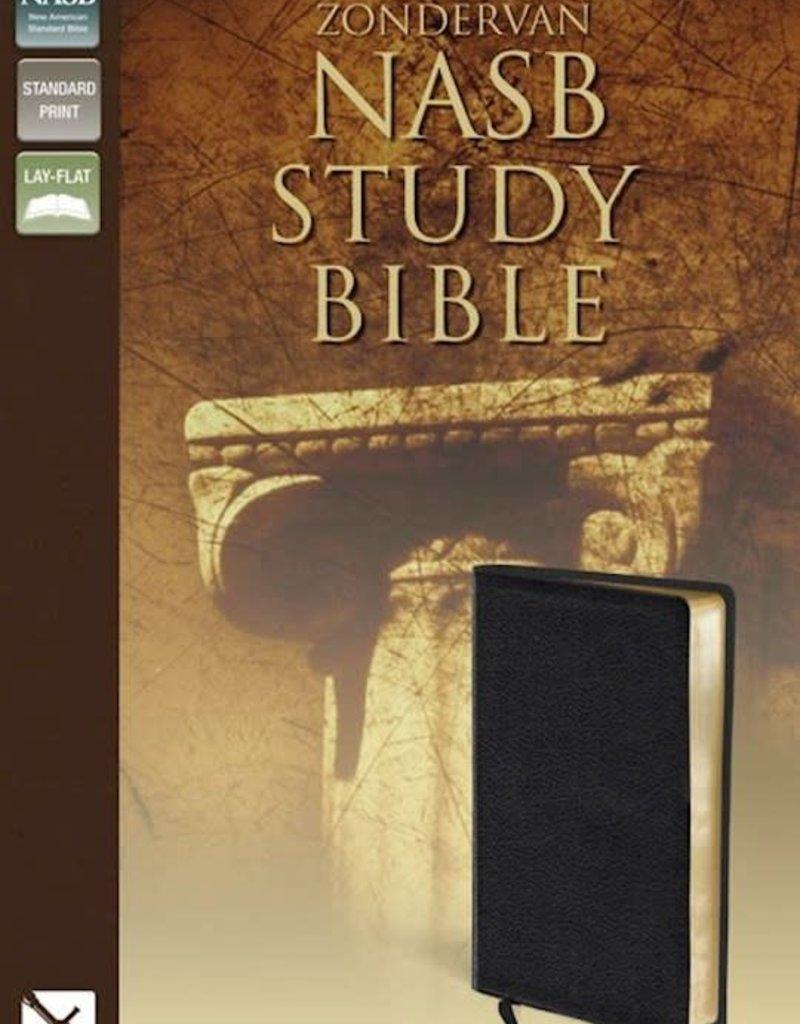 Zondervan NASB Study Bible-Black Bonded Leather