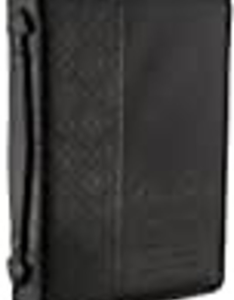 Bible Cover - Medium - Guidance Black Faux Leather Classic - Proverbs 3:6