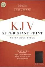 KJV Super Giant Print Reference Bible-Black Bonded Leather Indexed