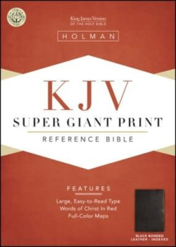 KJV Super Giant Print Reference Bible-Black Bonded Leather Indexed