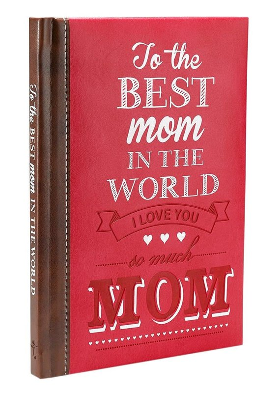 To The Best Mom In The World (Luxleather) (Red)