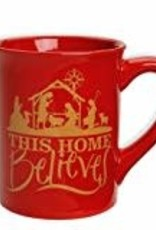 This Home Believes Christmas Mug