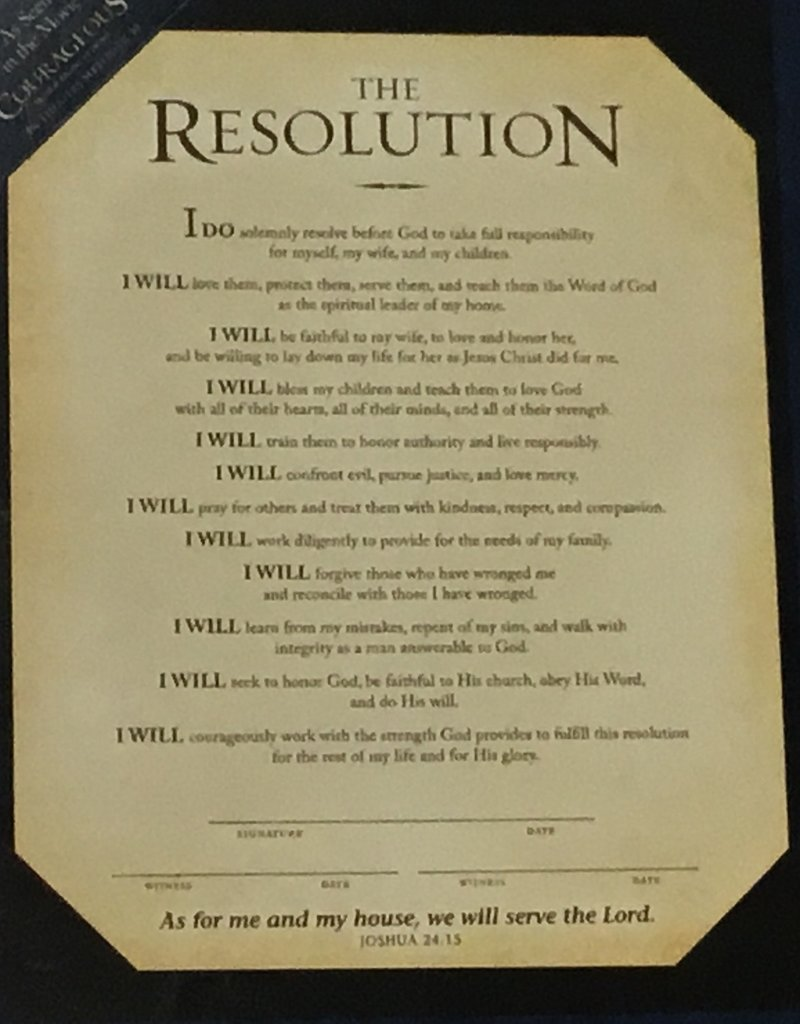 The Resolution print
