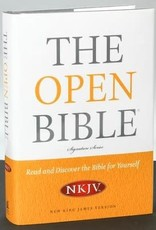 NKJV, The Open Bible, Hardcover (Signature)