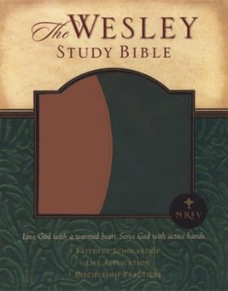 Abingdon Press NRSV Wesley Study Bible - Green/Brown Faux Leather Edition: New Revised Standard Version