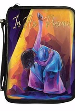 African American Expressions Bible Cover-In His Presence-Medium