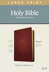 Tyndale KJV Thinline Reference/Large Print Bible/Filament Enabled Edition-Burgundy LeatherLike