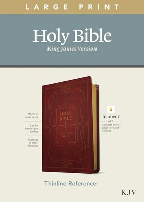 Tyndale KJV Thinline Reference/Large Print Bible/Filament Enabled Edition-Burgundy LeatherLike
