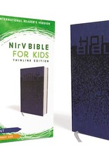 Zondervan NIrV Bible For Kids/Large Print (Comfort Print)-Blue Leathersof