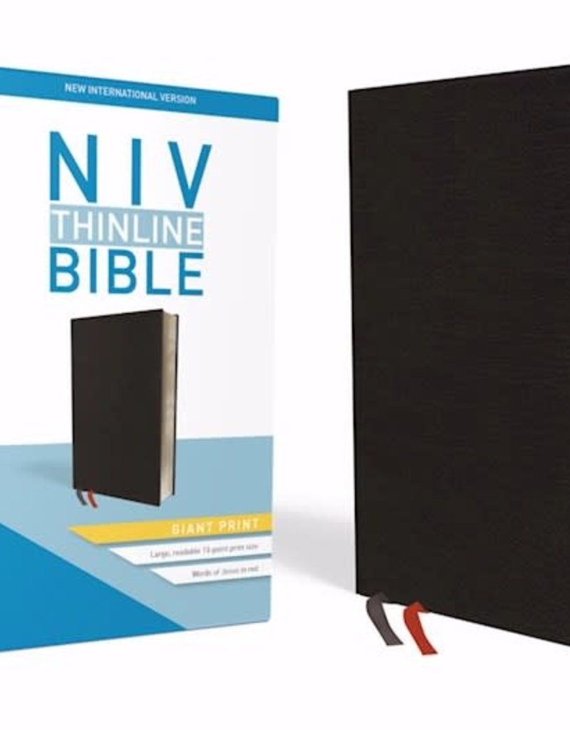 Zondervan NIV Thinline Bible/Giant Print (Comfort Print)-Black Bonded Leather Indexed
