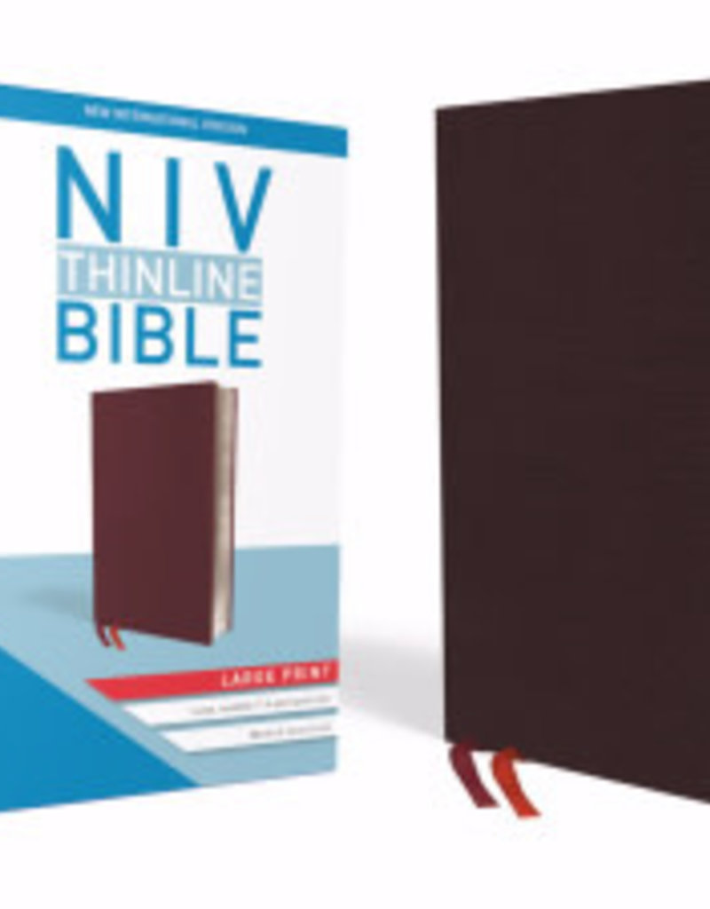 Zondervan NIV Thinline Bible/Large Print (Comfort Print)-Burgundy Bonded Leather