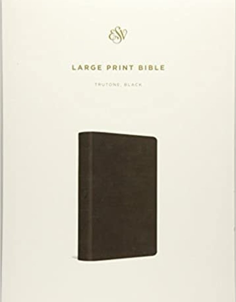 ESV Large Print Bible, Imitation Leather, Black