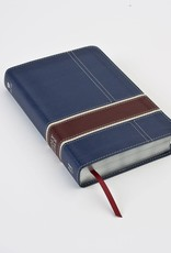 HCSB Military Families Bible Navy Crimson LeatherTouch