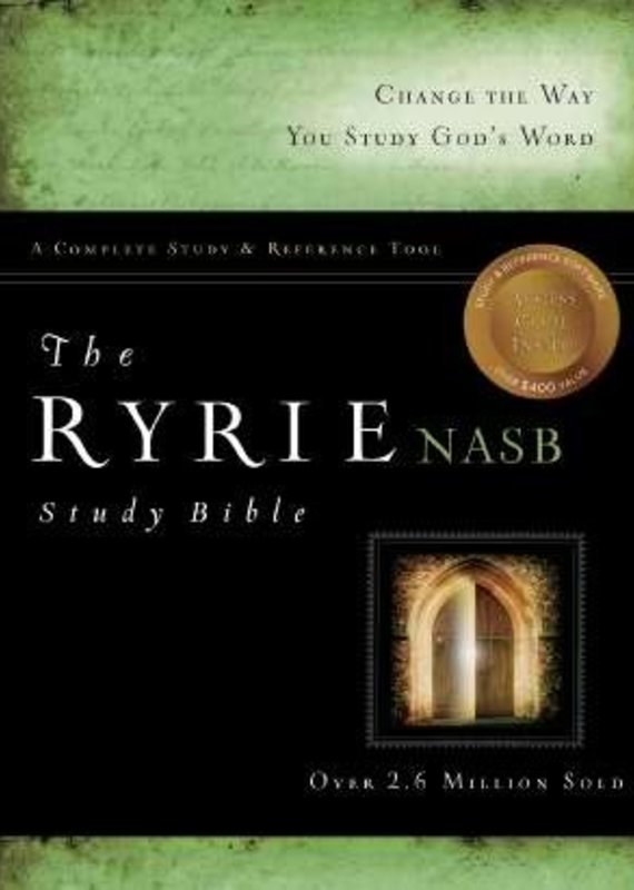 Moody Publishing NASB Ryrie Study Bible-Black Bonded Leather Indexed