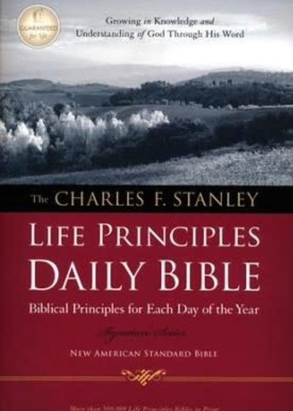 NASB Charles F. Stanley Life Principles Daily Bible