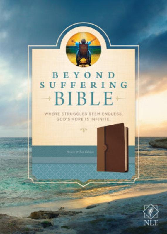Tyndale NLT2 Beyond Suffering Bible Brown Tan TuTone