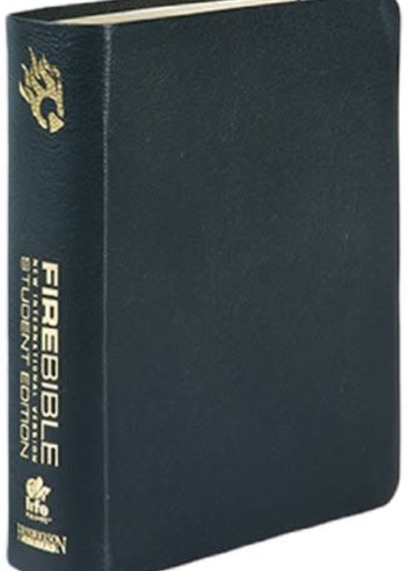 Hendrickson NIV Fire Bible Student Edition - Black Bonded Leather (9781598565201)