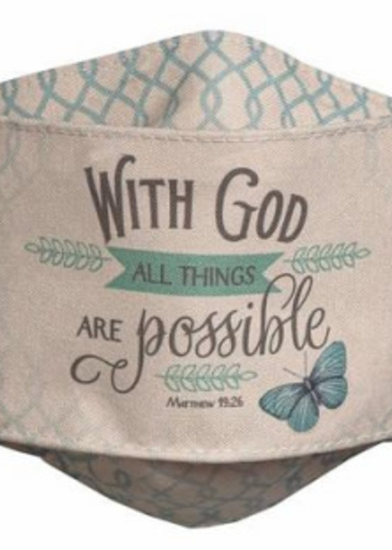 Abbey Gift With God All Things Face Mask
