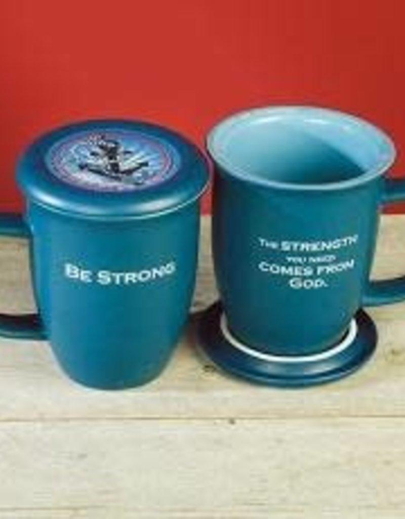 Abbey Gift Be Strong Mug & Coaster Set