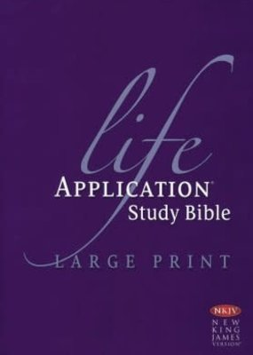 Tyndale NKJV Life Application Study Bible/Large Print-Hardcover Indexed