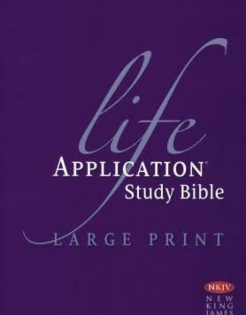 Tyndale NKJV Life Application Study Bible/Large Print-Hardcover Indexed