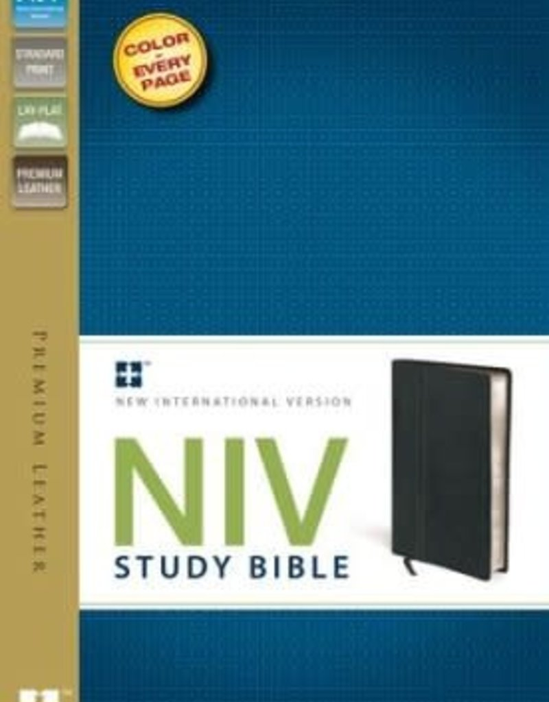 Zondervan NIV Study Bible, Genuine Cowhide Leather, Ebony