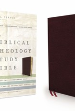 Zondervan NIV, Biblical Theology Study Bible, Bonded Leather, Burgundy, Indexed, Comfort Print