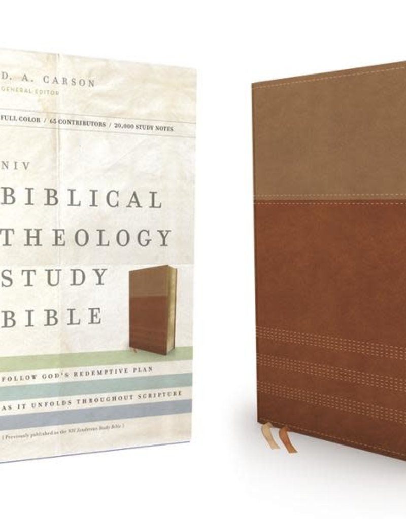 Zondervan NIV, Biblical Theology Study Bible, Leathersoft, Tan/Brown, Comfort Print