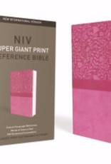 Zondervan NIV Super Giant Print Reference Bible-Cranberry Leathersoft