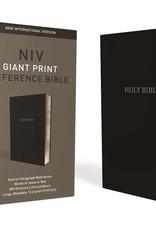 Zondervan NIV Giant Print Reference Bible (Comfort Print)-Black Leather-Look Indexed