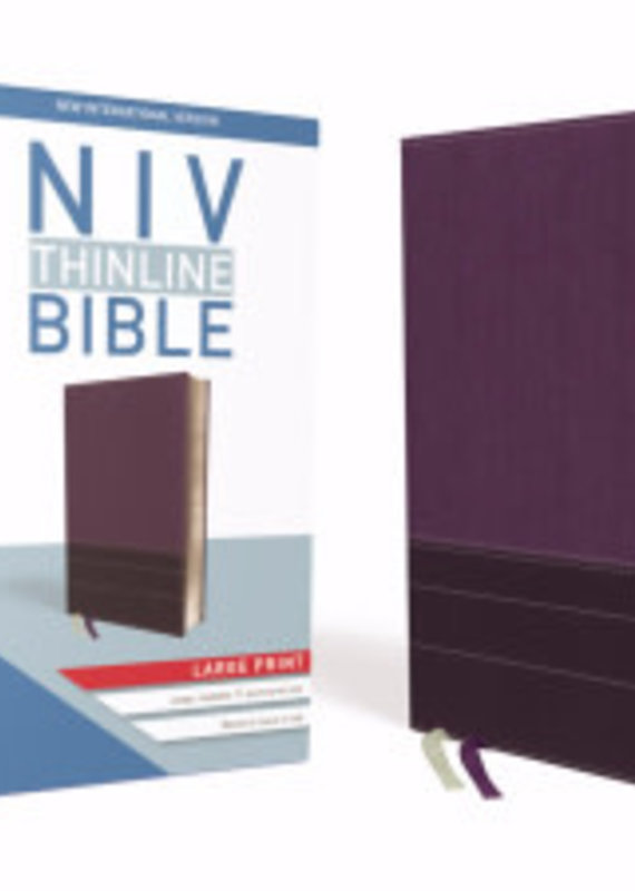 Zondervan NIV Thinline Large Print Purple leathersoft