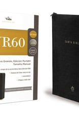 Span-RVR 1960 Large Print Bible-Portable Edition-Black Leather w/Zipper