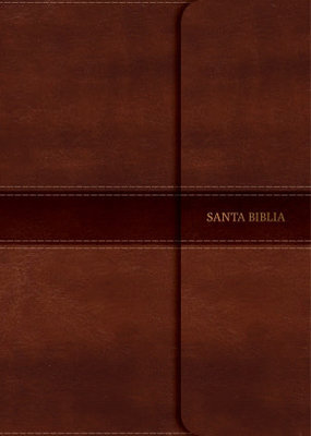 Span-NVI Super Giant Print Reference Bible-Brown LeatherTouch w/Magnetic Flap Indexed