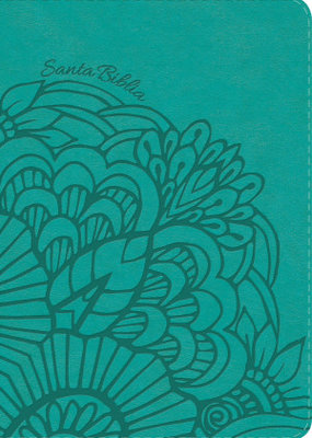 Span-NVI Giant Print Reference Bible-Teal LeatherTouch Indexed
