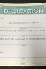 Span - Certificate Dedication (Dedicacion) (Pack Of 6)