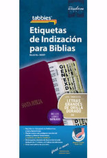 Span - Bible Tab - Gold Edge - Large Print - O&N Testament (Etiquetas de Indizacion para Biblias)