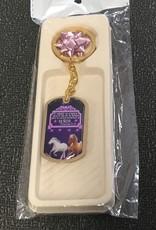 Ministerio Puerta de la Fe Prov. 21:31 Purple Keychain - Llaveros Finos