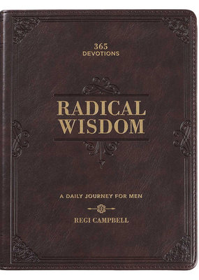Radical Wisdom Brown Faux Leather Daily Devotional for Men