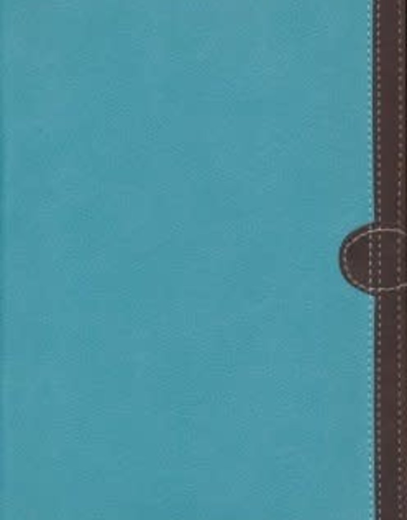 Zondervan NIV Thinline Bible (Comfort Print)-Turquoise/Chocolate Leathersoft