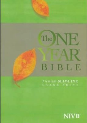 Tyndale NIV One Year Bible Premium Slimline Large Print Soft Cover